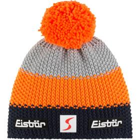Eisbär Star Cappello con pon pon SP, arancione/grigio
